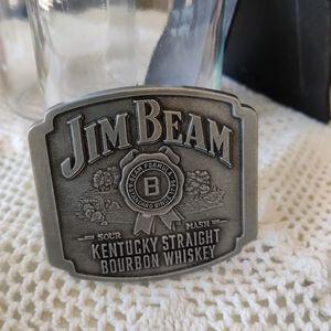 Jim Beam Bourbon Metal Belt Buckle